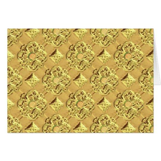 Embossed Gold Foil Card