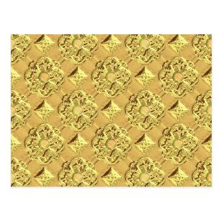 Embossed Gold Foil Postcard
