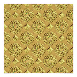Embossed Gold Foil Poster