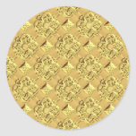 Embossed Gold Foil Round Stickers