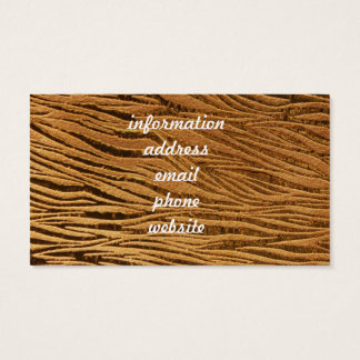 Embossed Gold Leather Image Business Card