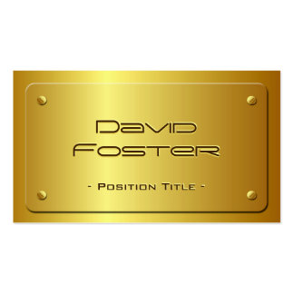Embossed Gold Plate Look - Shiny Luxury Double-Sided Standard Business Cards (Pack Of 100)