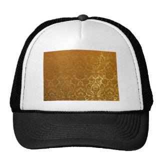 EMBOSSED GOLD  VELVET DESIGN TRUCKER HAT