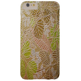 Embossed Golden Leaf iPhone 6 Plus Cases