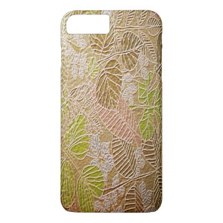 Embossed Golden Leaf iPhone 7 Plus Cases