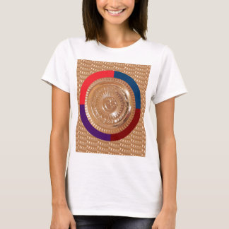 Embossed GoldFoil OMmantra mantra Chant Yoga Shirt