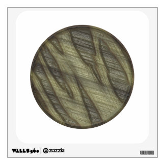 Embossed green button wall graphic