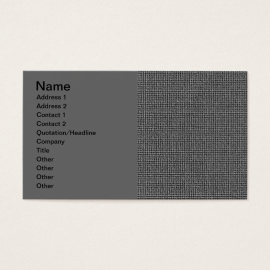 EMBOSSED GREY GRAY BUSINESS MODERN GRID STYLEBACKG BUSINESS CARD