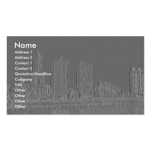 Embossed Harbor City/ Business Cards