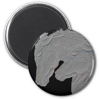 Embossed Horses Magnet