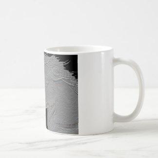Embossed Horses Classic White Coffee Mug