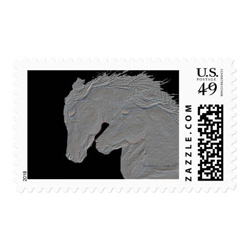 Embossed Horses Stamp