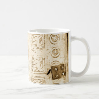 Embossed Leather Antique Binding Coffee Mug