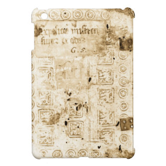 Embossed Leather Antique Binding iPad Mini Covers