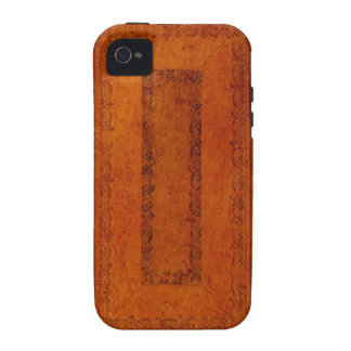 Embossed Leather book cover iPhone 4 Case