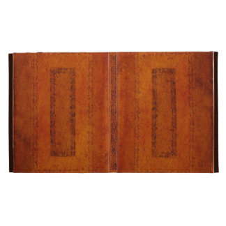 Embossed Leather book cover iPad Cases