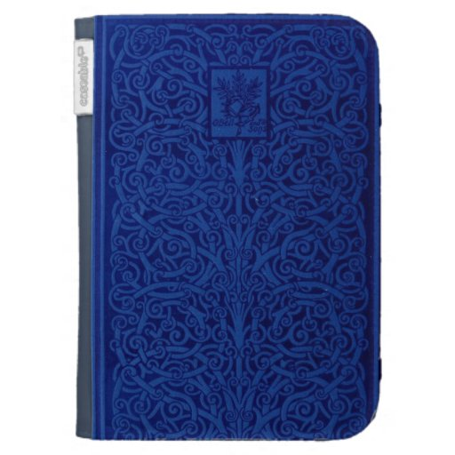 Embossing Fabric Book Cover ~ Embossed leather book cover case for kindle zazzle