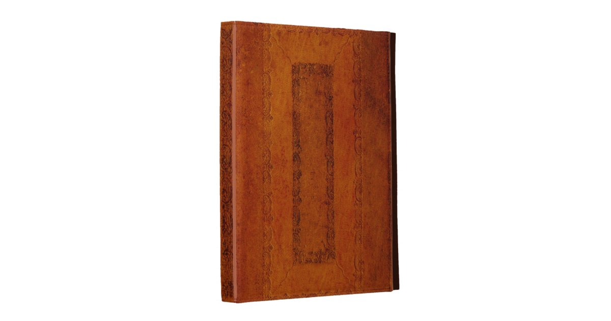Embossing Fabric Book Cover : Embossed leather book cover ipad case zazzle