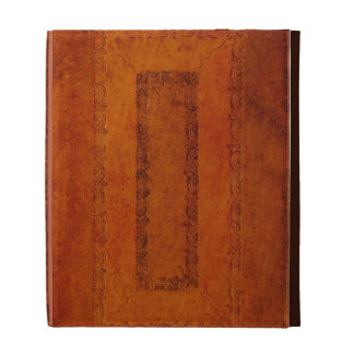Embossed Leather book cover iPad Case