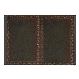 Embossed Leather book cover iPad Mini Cover