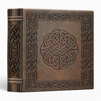 Embossed Leather Celtic Knots Binder