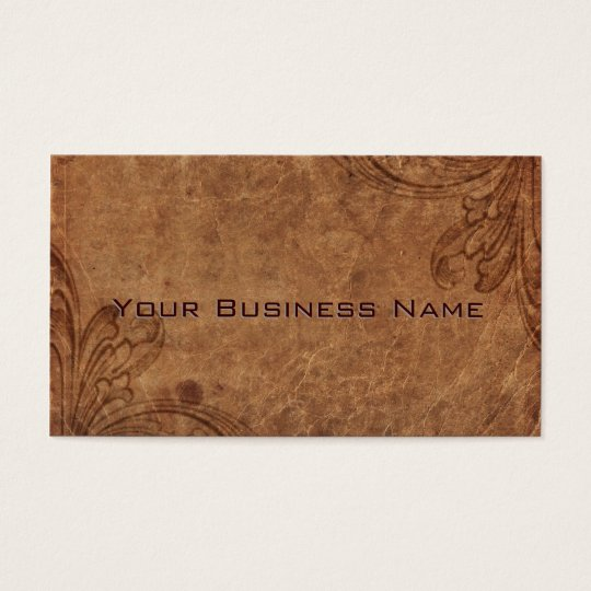 Embossed Leather Look Corporate Business Card
