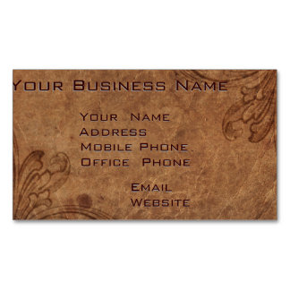 Embossed Leather Look Corporate Business Magnet Magnetic Business Cards (Pack Of 25)