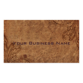 Embossed Leather Look Corporate Double-Sided Standard Business Cards (Pack Of 100)