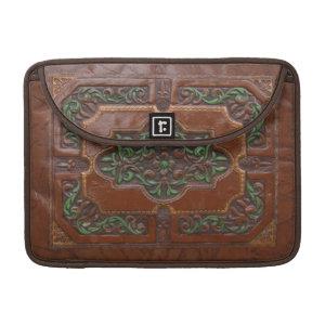 Embossed Leather Look ~ MacBook Flap Sleeve Sleeves For MacBooks