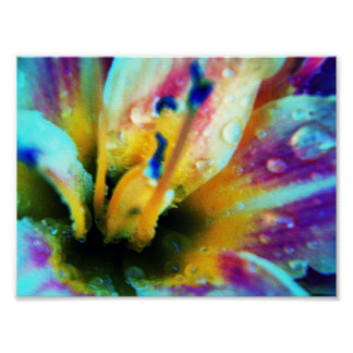 Embossed Lily Poster