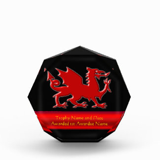 Embossed-look Dragon with red chrome-effect stripe Award