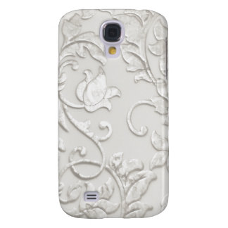 Embossed Look Ivory Damask Galaxy S4 Case