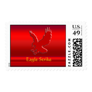 Embossed-look Red Eagle on red metallic-effect Postage Stamps