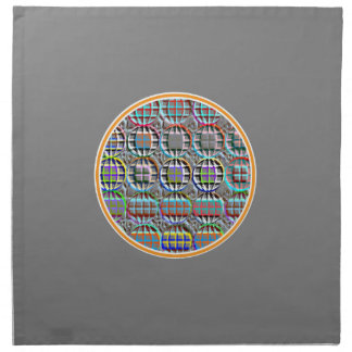 Embossed look Round Circle Art Napkin