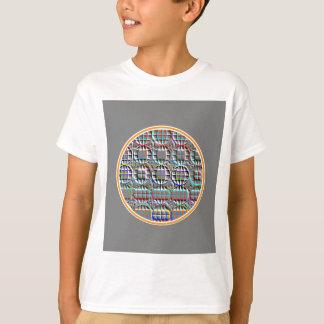 Embossed look Round Circle Art T-Shirt