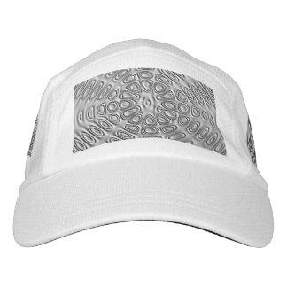 Embossed Look Silver Gray Metal Sand Flower Headsweats Hat