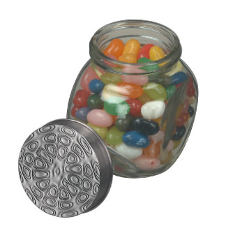 Embossed Look Silver Gray Metal Sand Flower Jelly Belly Candy Jar