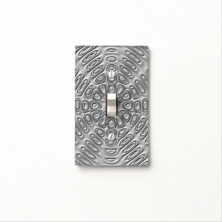 Embossed Look Silver Gray Metal Sand Flower Light Switch Cover