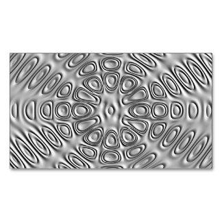 Embossed Look Silver Gray Metal Sand Flower Magnetic Business Card