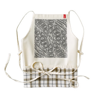Embossed Look Silver Gray Metal Sand Flower Zazzle HEART Apron