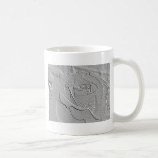 Embossed Look Silver Rose 2 Coffee Mug