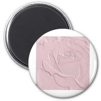 Embossed Look Soft Pink Rose Magnet