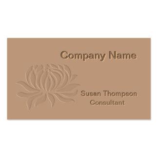 Embossed Lotus Flower Business Card