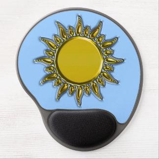 Embossed Metallic Gold Radiant Sun Gel Mouse Mat