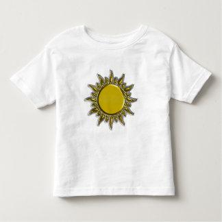 Embossed Metallic Gold Radiant Sun Toddler T-shirt