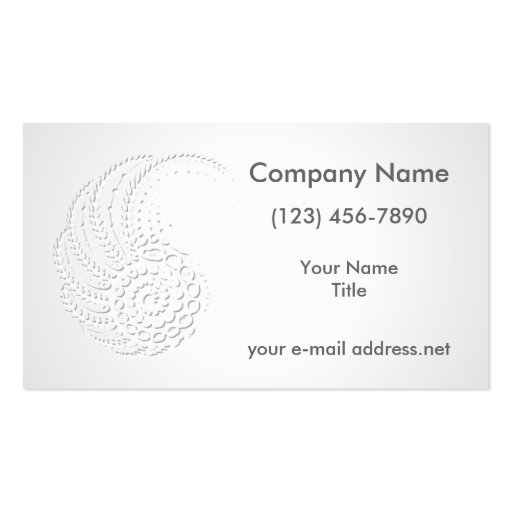 Embossed Organic Business Cards