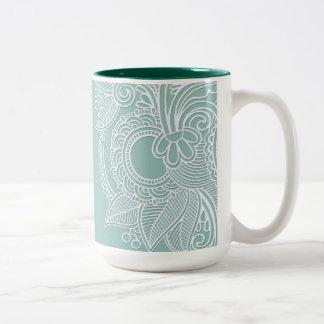 Embossed Paisley Mug
