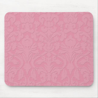 Embossed Pink Damask Mousepad