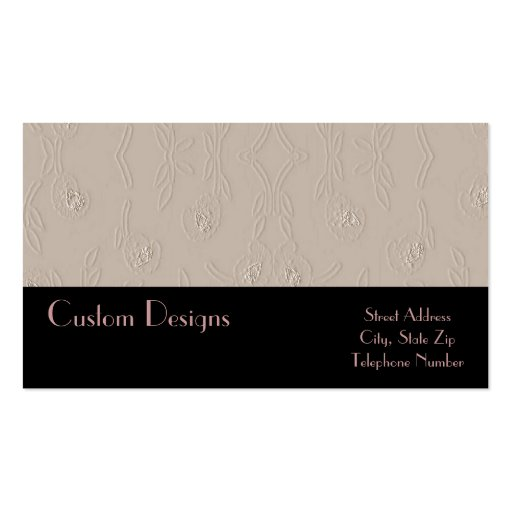 Embossed Platinum on Black Business Cards