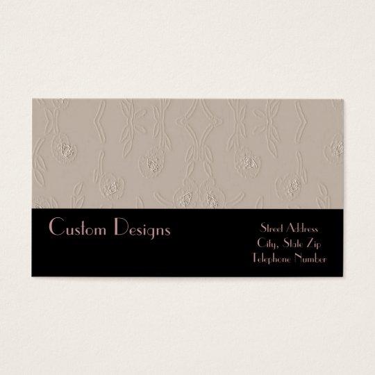 Embossed Platinum on Black Business Cards
